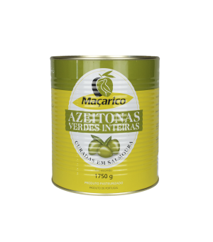 Whole Green Olives 1,75 kg