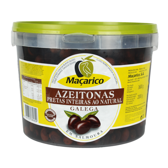 Whole Galega Black Olives 2 kg