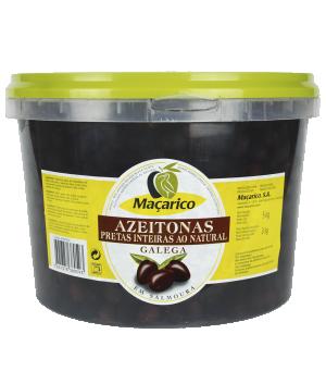 Azeitonas Pretas Inteiras Galega 5 kg