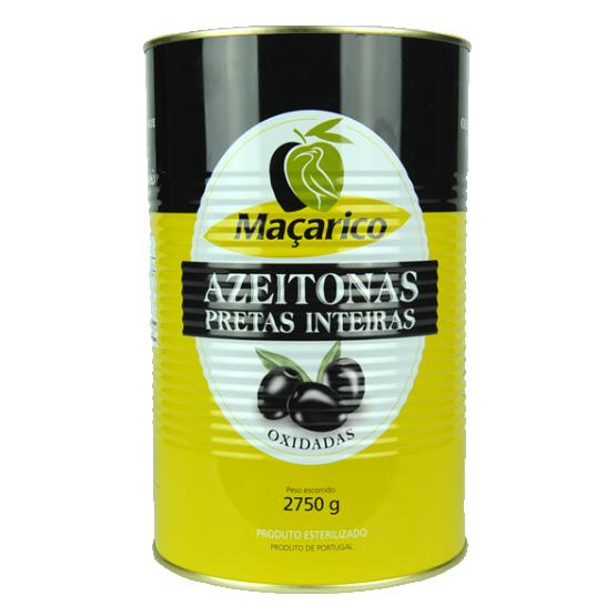 Whole Black Olives 2,75 kg