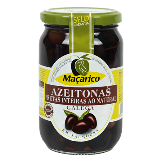 Whole Galega Black Olives 210 g