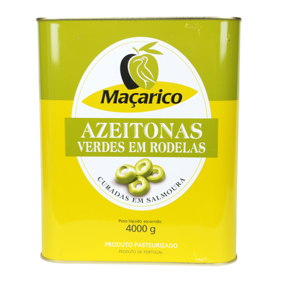 Sliced Green Olives 4 kg