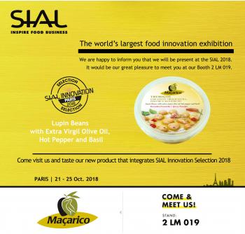 Novo produto da Maçarico integra a lista 'SIAL Innovation Selection 2018'