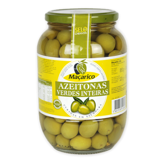 Whole Green Olives 520 g