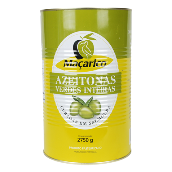 Whole Green Olives 2,75 kg