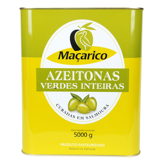 Whole Green Olives 5 kg