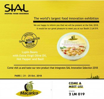Maçarico's new product is on the list 'SIAL Innovation Selection 2018'