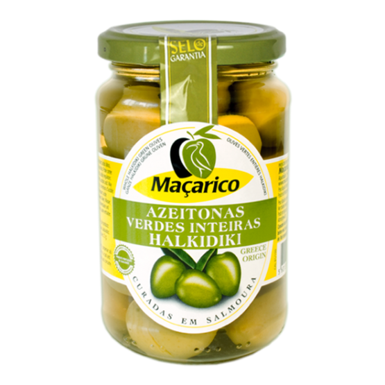 Whole Green Halkidiki Olives 200 g