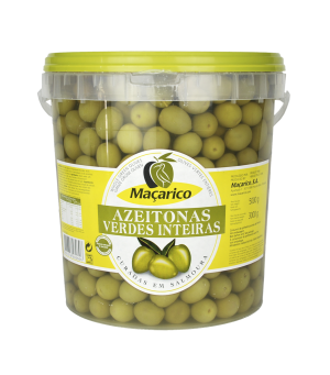 Whole Green Olives 3 kg