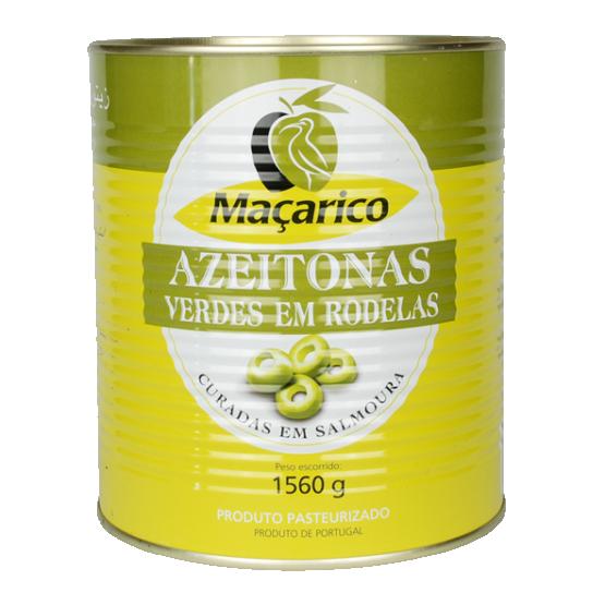 Sliced Green Olives 1,56 kg