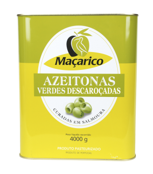 Pitted Green Olives 4 kg