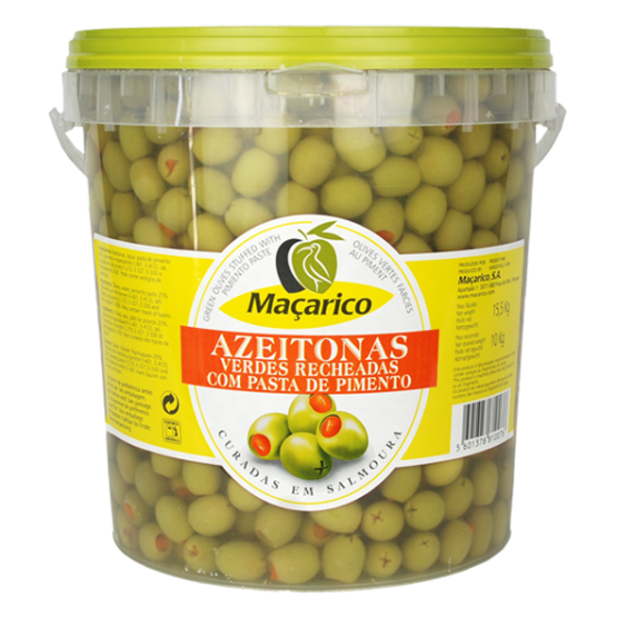 Green Olives Stuffed with Pimiento Paste 3 kg