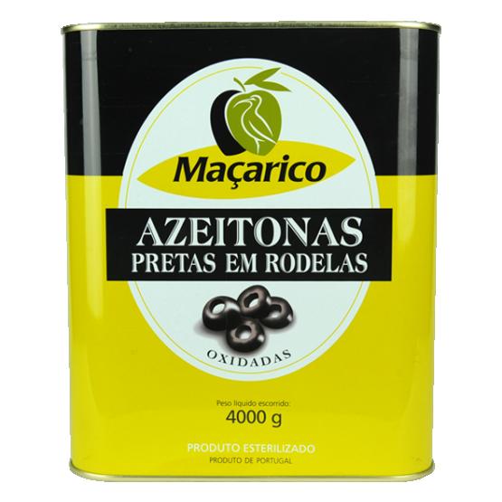 Azeitonas Pretas em Rodelas 4 kg